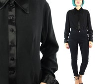 Black Button Up Dress Shirt Womens | Is Shirt