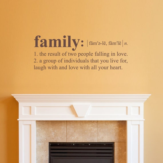 Design your own wall decals nz : Family definition wall decal dictionary