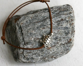 Turtle Bracelet / Turtle Anklet (many colors to choose)