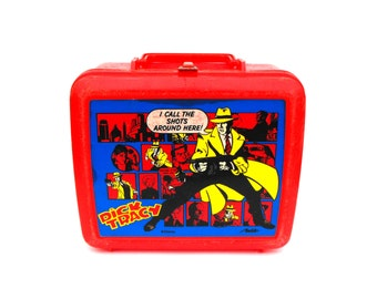 1990 Dick Tracy Movie Lunch Box Vintage Retro Film Movie Gumshow Detective Comic Book Lichtenshein Pop Art Back to School Wall Home Decor