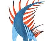 Kentrosaurus - Dinosaur Print