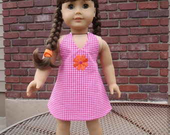 "Double Take Reversible Sundress Pattern for 18"" doll such as the American favorite"