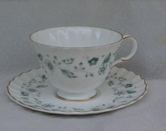 Royal Doulton Waverly Cup and Saucer Set Vintage English Bone China