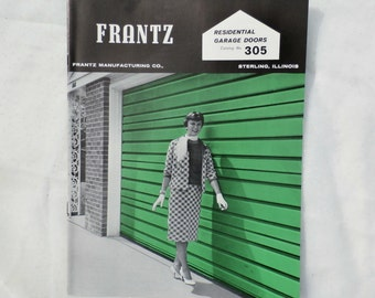 Frantz Manufacturing Garage Doors 1960s Advertising Brochure