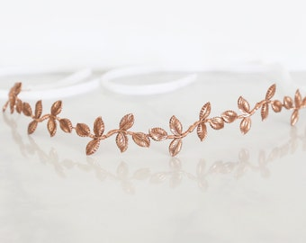 Petite Leaves - A crown or headband of lovely little Rose Gold leaves, Boho Headband, Crown, Halo
