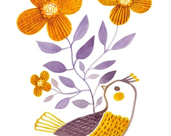 Yellow Bird - 8 x 10 Print