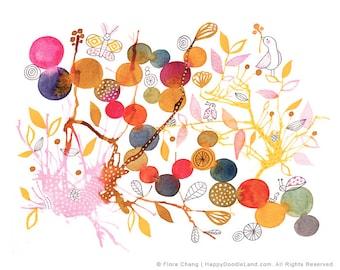 Dotted Garden - 8 x 10 Print