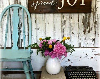 Be Have Spread JOY - Reclaimed Barn Wood Sign- Typography Sign-100+ year old Barn Wood-Wall Decor