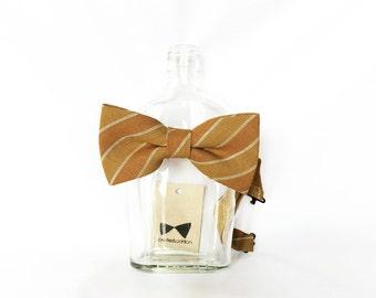 Ray - Mustard/Honey Linen Men's Pre-Tied Bow Tie or Self-Tied Bow Tie