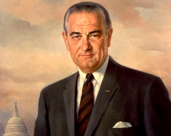 Lyndon  Johnson portrait LBJ