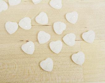 6 Druzy Drusy Heart Cabochons Resin Quartz Imitation 12mm Ivory White [CAB7115]