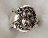 """Spoon Ring """"Orange Blossom"""" 1910 Silverware Jewelry Vintage Silverplate Size 5 to 12 Choose Your Size"""
