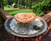 Birdbath Fountain Pond Simply Simple Lily Pad Copper Fountain Container Style 11 inch Lily Pad