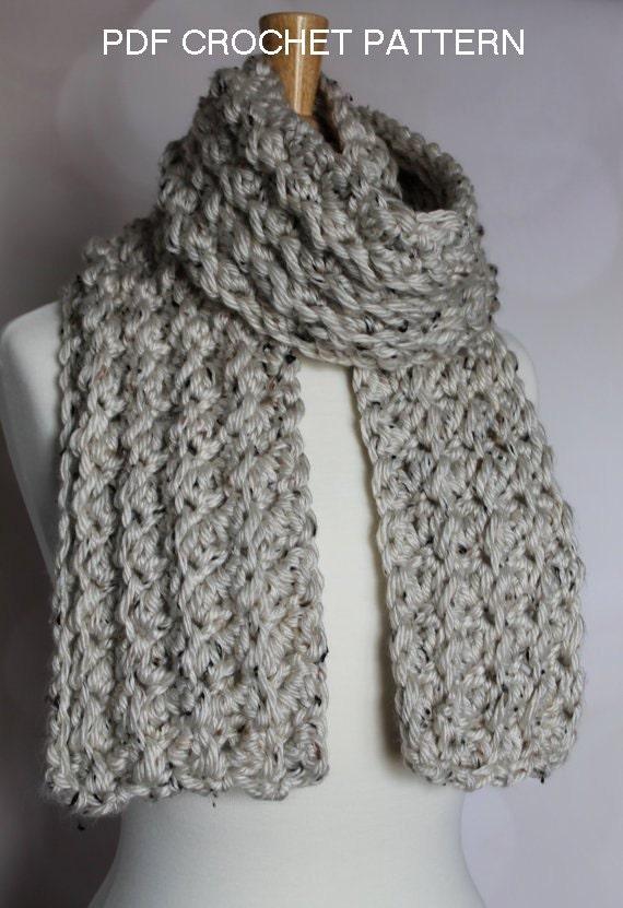 Crochet Pattern Crochet Scarf Pattern Crochet By Jlzcreations
