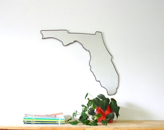 Florida Mirror / Florida Wall Mirror State Outline Silhouette FL Shape Wall Art Modern Design