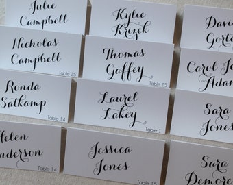 Script Tented Escort Cards