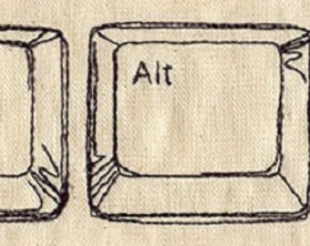 Ctrl-Alt-Delete Embroidered Cotton Kitchen Dish Towel, Just Start Over - Geek design