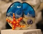 Lampwork - Bead - Focal - Ocean - Beach - Starfish