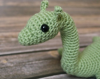 Amigurumi Loch Ness Monster - Nessie Doll - Plesiosaur Plush - Geek Gift - Science Toy - Crochet Loch Ness Monster - Baby Nessie