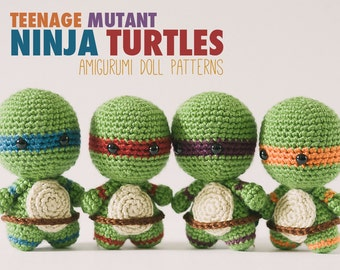 Teenage Mutant Ninja Turtles  // Amigurumi Crochet Pattern // Instant Download