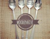 Vintage Silverware Summer Beverage Set Lemonade Smoothie Iced Coffee Sweet Tea by Woodenhive