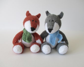 Todd Fox and Ralf Wolf toy knitting patterns
