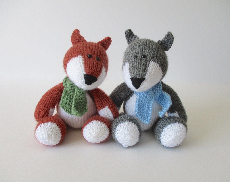 Wolf Knitting Pattern : Todd Fox and Ralf Wolf toy knitting patterns