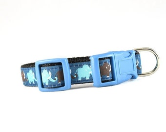 """3/4"""" wide Mammoth Dog Collar, Martingale Collar, Chain Martingale"""