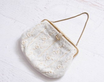 1930s Caviar Beaded Bag - 30s Wedding Purse - Touch of Gold Beaded Bag