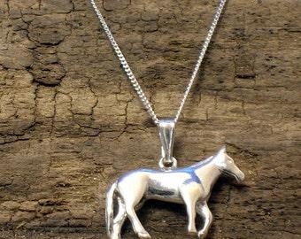 Horse Necklace, Silver, Horse pendant, Handmade, Pony Necklace, Horse Jewellery, Animal Jewellery, Horse gifts, Pony Pendant, Pony Gifts,