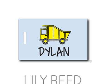 Dump Truck....Personalized Luggage Bag Tag