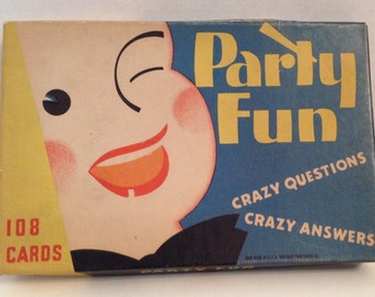 Whitman Party Fun Game Vintage 1935 Card Game Secrets Ask Questions Get Answers