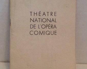 Les Contes d'Hoffmann Opera Book 1950 Paris France Theatre National de l'Opera Comique Tales of Hoffmann Vintage