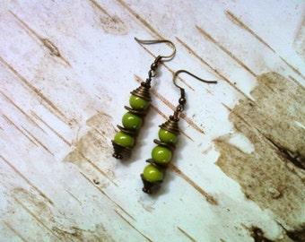 Lime Green Earrings (1811)