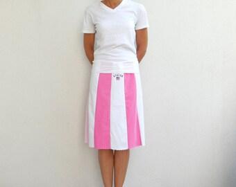 T Shirt Skirt Womens Tee Skirt T-Shirt Clothing Avalon New Jersey Pink White Knee Length Skirt Handmade Cotton Skirt Summer Skirt ohzie