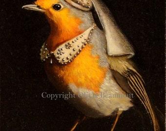"Robin art - ""Maid Mirabelle"" - print 5x7"