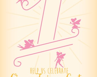 One Fairy Cute Birthday Invitation