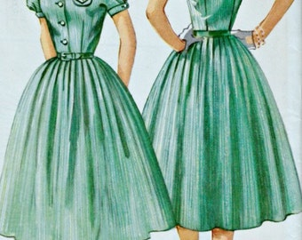 1950s 4-H Club Dress Pattern  SIMPLICITY 1700 1956 Vintage Sewing Pattern  UNCUT, Factory-Folded  Bust 32