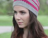 LACED Hat Knitting Pattern PDF