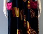 Vintage Chic African Batik Abstract Maxi Dress