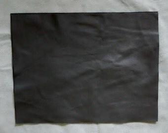 "Smoke Grey Leather cow hide 9""x12"" Piece Scrap Gray"
