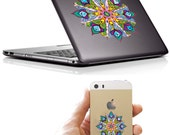 Peacock Mandala- A Vinyl Sticker Decal Skin for Macbook, Laptop, Tablet, IPhone, Door, Capboard, Window, Car, Table and more...