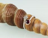 Hamsa Stone Adjustable Silver Hammered  Ring- ElenadE