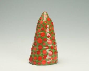 Mod Christmas Decor, Hand Made Christmas Tree, Table Top Ceramic Christmas Tree, Decorative Christmas Tree, Primitive Christmas Tree