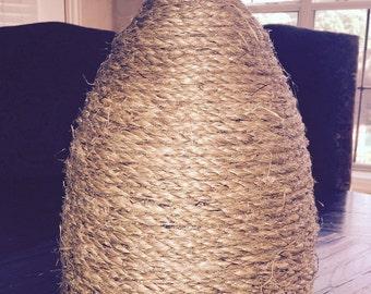 Handmade Ornamental Bee Skep Apiary, Beehive Decor, Home Decor, Wedding, Shower, Nursery