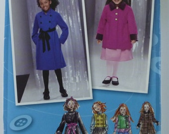 Little Girls Coat, Jacket and Vest Sizes 3 4 5 6 UNCUT Simplicity Pattern 2534 Sewing Inspired by Project Runway