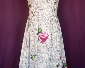 Dress fashioned from vintage cotton