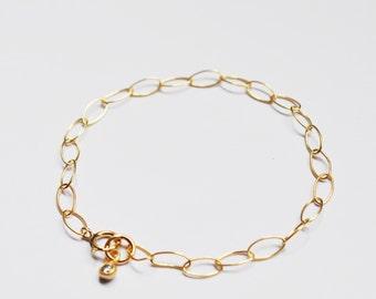 Gold Bracelet, 14K Gold Filled, Chunky Bracelet, Layering Bracelet, Stacking Bracelet, Everyday, Simple Bracelet