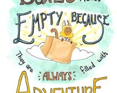 Boxes Are Never Empty Because They Are Always Filled with Adventure