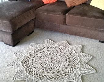 Radiance Floor Rug Crochet Pattern - UK Terms